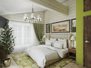 Bedroom by Архитектурное Бюро 'Капитель', Country
