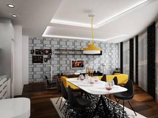 ML MIMARLIK VE DEKORASYON – yemek odası dekorasyonu: modern tarz Yemek Odası