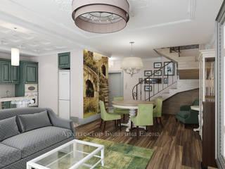 Living room by Архитектурное Бюро 'Капитель', Modern