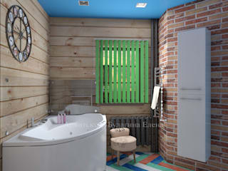 Bathroom by Архитектурное Бюро 'Капитель', Country