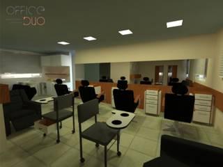 Projeto A|F: Espaços comerciais  por Office Duo Arquitetura e Interiores