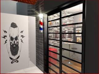 Barbearia Linópolis.: Espaços comerciais  por Designer de Interiores  Fabrizio Martinelli,Industrial