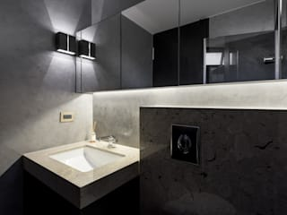 內湖 御和園 邱宅:  浴室 by 直譯空間設計有限公司