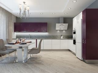 ДизайнМастер Eclectic style kitchen Beige