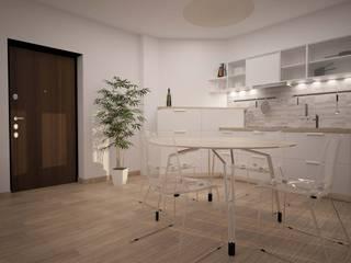 BILOCALE SANTO STEFANO Cucina minimalista di LAB16 architettura&design Minimalista