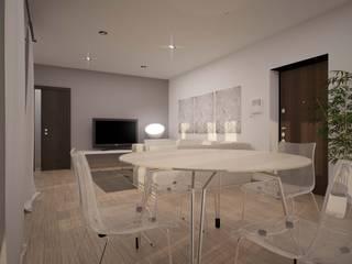 BILOCALE SANTO STEFANO Soggiorno minimalista di LAB16 architettura&design Minimalista