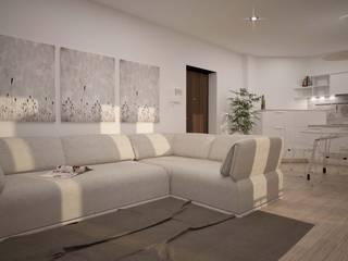 BILOCALE SANTO STEFANO: Soggiorno in stile  di LAB16 architettura&design, Minimalista