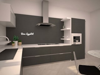 LITTLE KITCHEN Cucina minimalista di LAB16 architettura&design Minimalista