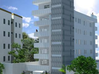 Fachada prédio : Casas ecléticas por Jéssica Faria - Designer de Ambientes