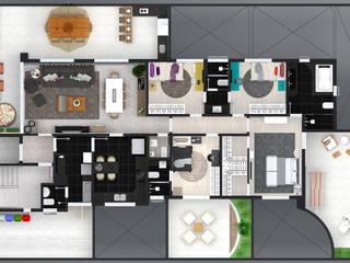 Layout apt com área privativa: Casas ecléticas por Jéssica Faria - Designer de Ambientes