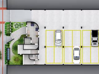 Layout térreo : Garagens e arrecadações ecléticas por Jéssica Faria - Designer de Ambientes