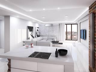Luksusowy apartament Nowoczesny salon od BAZYLIKON Nowoczesny