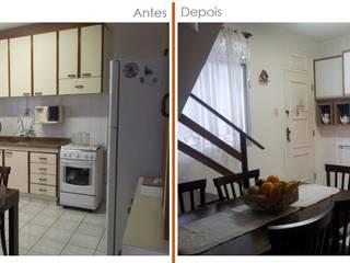 Antes e depois Cozinha por Roma Arquitetura