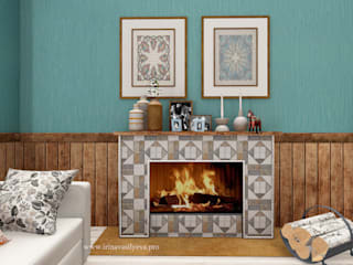 Salas de estar ecléticas por Irina Vasilyeva Eclético