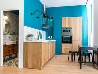 Dapur Gaya Eklektik Oleh Insides Eklektik Kayu Wood effect