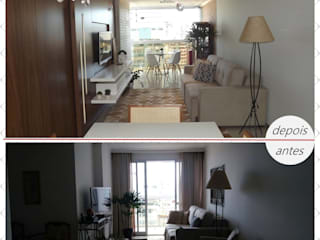 Fotos de antes e depois por Office Duo Arquitetura e Interiores