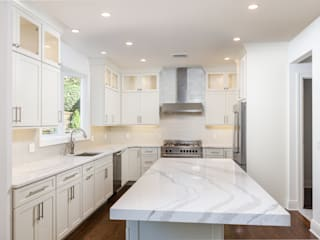 HOMEREDI Modern style kitchen Quartz White