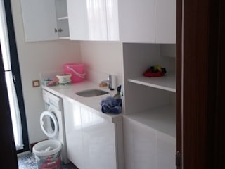 ÇAMAŞIR ODASI sezgin inşaat-mobilya BanyoDekorasyon Ahşap Beyaz
