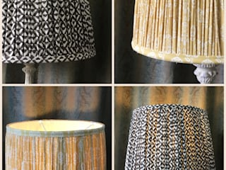 Gathered lampshades : modern  by Silkworm & Cottontails  T/A C R P Interiors Ltd , Modern
