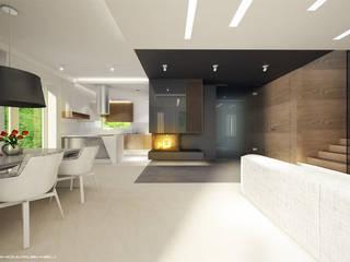 Białołęka 1: styl , w kategorii Salon zaprojektowany przez Patryk Kowalski Architektura i projektowanie wnętrz