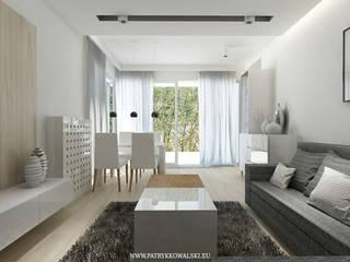 ul. Jana Nowaka-Jeziorańskiego: styl , w kategorii Salon zaprojektowany przez Patryk Kowalski Architektura i projektowanie wnętrz