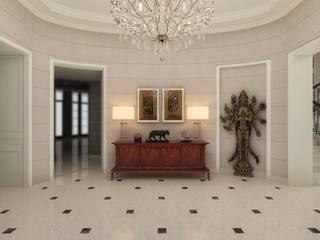 Classic style corridor, hallway and stairs by Kerim Çarmıklı İç Mimarlık Classic