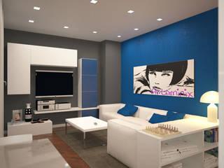 ห้องนั่งเล่น โดย GMV Graph - Studio Tecnico di geom. Marco Luca Villa, โมเดิร์น