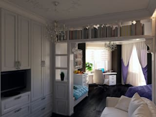 Дизайн-проект квартиры «Снегири»: Детские комнаты в . Автор – Дизайн-бюро «Линия стиля»