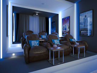 m.frahat Minimalist media room