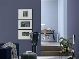 SCHÖNER WOHNEN-FARBE Modern Oturma Odası Mavi