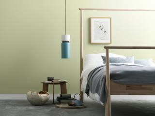 SCHÖNER WOHNEN-FARBE Modern Yatak Odası Yeşil