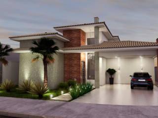 Projeto Atemporal ADRIANA MELLO ARQUITETURA Casas clássicas