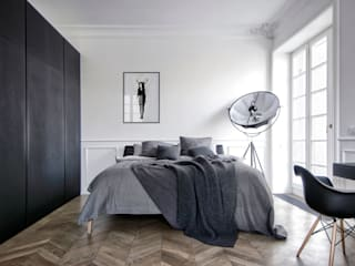 INT2architecture Minimalist bedroom Black