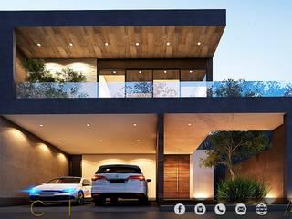 PROYECTO GI/L21/M55/AMORADA/MEX Casas modernas de MONACO GRUPO INMOBILIARIO Moderno