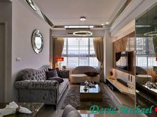 【潘朵拉的珠寶盒-下集】:  客廳 by 大衛麥可國際設計工程有限公司