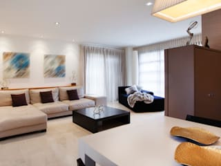 Casa unifamiliar en el Grao de Castellon Salones de estilo moderno de Gemmalo arquitectura interior Moderno