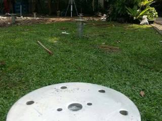 ฐานรากบ้านน๊อคดาวน์ ที่หมู่บ้านสิรินทารา โดย บริษัทเข็มเหล็ก จำกัด