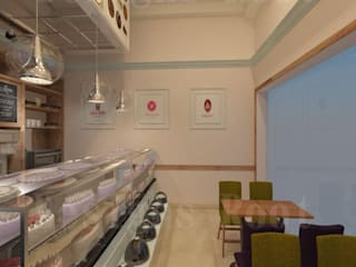 ​modren interior designs bakery shop:  Commercial Spaces by Designs Root