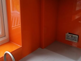Orange Splashbacks Project Modern kitchen by Betts Glass & Glazing Modern