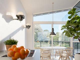 Watervilla's in Dorpshaven, Aalsmeer Scandinavische eetkamers van agNOVA architecten Scandinavisch