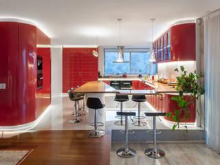 Casa Chamisero: Cocinas de estilo  por GITC