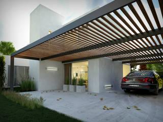 Vivienda unifamiliar Edificios de oficinas de estilo minimalista de Arquidigital Minimalista