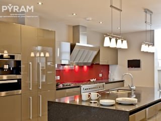 Stunning kitchen project in gloss clay lacquer:  Kitchen by Pyram