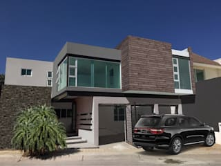 HF Arquitectura Modern home Engineered Wood Grey