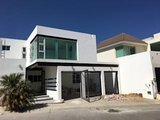 HF Arquitectura Eclectic style houses Concrete White