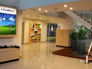 Recepción: Edificios de Oficinas de estilo  por ebanisART Espacio y Concepto