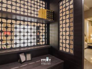 潺禪。垂影 - 現代隱禪 有容藝室內裝修設計有限公司 Asian style study/office
