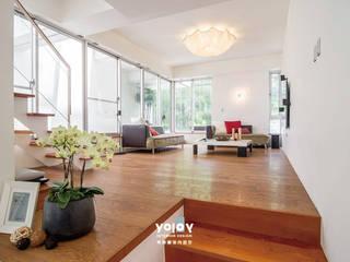 自然。隱逸 - 北歐風格:  客廳 by 有容藝室內裝修設計有限公司