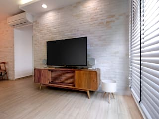 HDB Blk 429A Yishun Scandinavian style living room by Renozone Interior design house Scandinavian