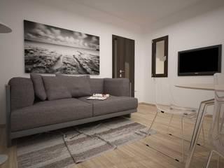 TRILOCALE SANTO STEFANO Soggiorno minimalista di LAB16 architettura&design Minimalista